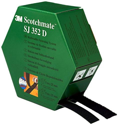 3M SJ352D Scotchmate Haken- und Schlaufenband, in einer Spendebox, schwarz, 2 x 5 m, 1er Pack