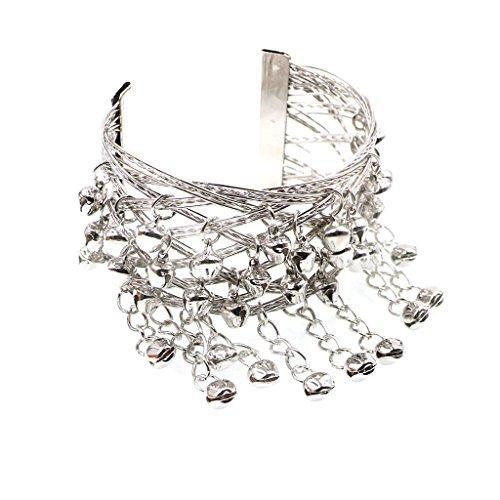 Moda borlas de Bell Upper Arm Cuff Armlet Armband Brazalete Pulsera