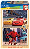 Educa- Disney Pixar : Cars y Los Increibles 2 Puzzles Infantiles de Madera ecológica de 50 Piezas, a Partir de 4 años (18598)