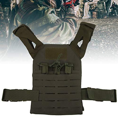 Alomejor Airsoft Paintball Weste Kinder Verstellbare Weste Jacke Combat Trainingsweste für Spiele im Freien Thick Guard