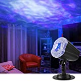 Lámpara de Proyección,Qomolo Romántica Cielo Estrellado Ola Luces de Proyector con Control Remoto,Luz del Sueño LED...