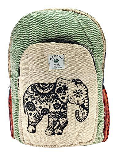 Himalayan Rucksack aus 100 % Bio-Hanffaser und Baumwolle mit Streifen, für Laptop, hergestellt in Nepal.art45