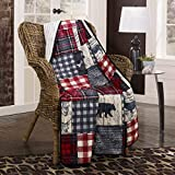 Throw Blanket - Timber by Donna Sharp - Lodge Decorative Throw Blanket with Patchwork Pattern