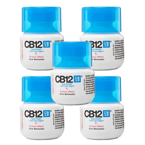 CB12 Mint - Safe Breath Oral Care Agent - 50ml (5 Bottles) by CB12