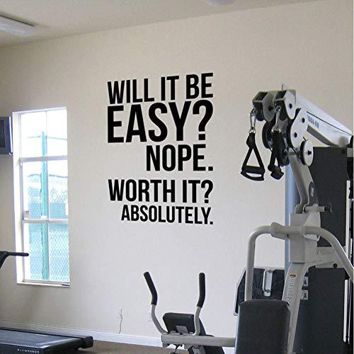 MRQXDP Absolutamente Fitness Motivation Wall Quotes Poster Decals Gran gimnasio Kettlebell Boxing De