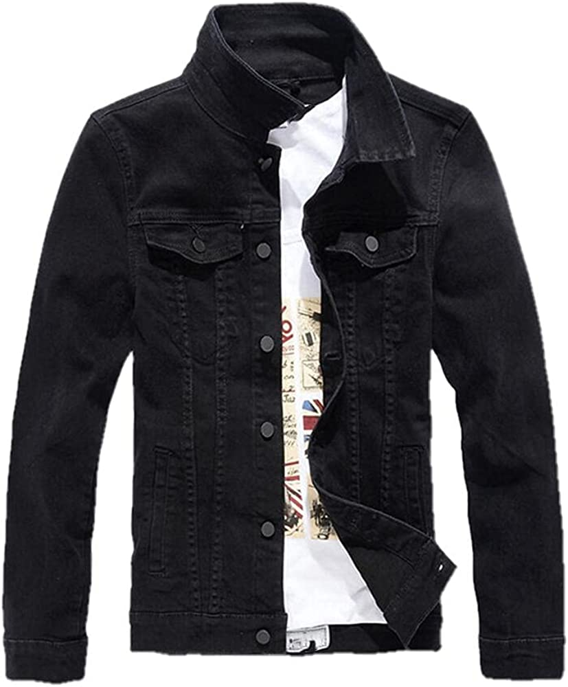 Autumn men's casual jacket long-sleev denim Chicago Mall cool Shipping included single-breasted