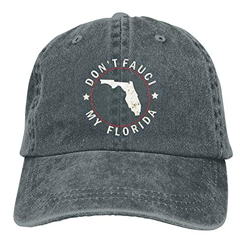 Dont Fauci My Florida, Gorra de béisbol ajustable unisex con mapa de Estados Unidos de América 2024, ^^, Talla única