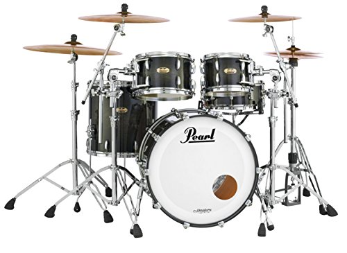 PEARL MASTERS Maple Complete MCT903x P/C3463-Piece Drum Shell Pack, Vermillion, Sparkle