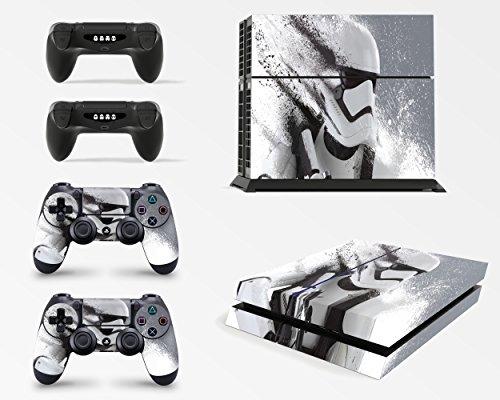 giZmoZ n gadgetZ GNG Playstation4 PS4 Konsolen-Gehäuseaufkleber, Motiv: StarWars Battlefront Stormtrooper, inklusive 2er-Set mit Aufklebern für Controller