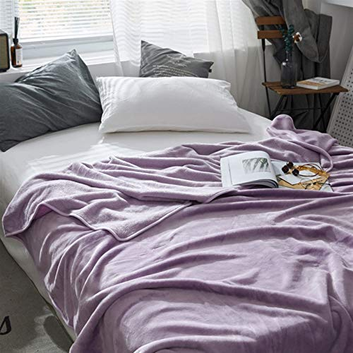 LJHSS Flauschige Flanelldecken, Exquisite komfortable Flanell-Fleece-Decke, alle Saison-Flanelldecke für Bett weich (Color : 1, Size : 180x200cm)