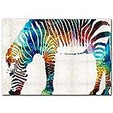 LYQSCL Leinwanddrucke,Nordic Abstrakte Farbenfrohe Zebra
