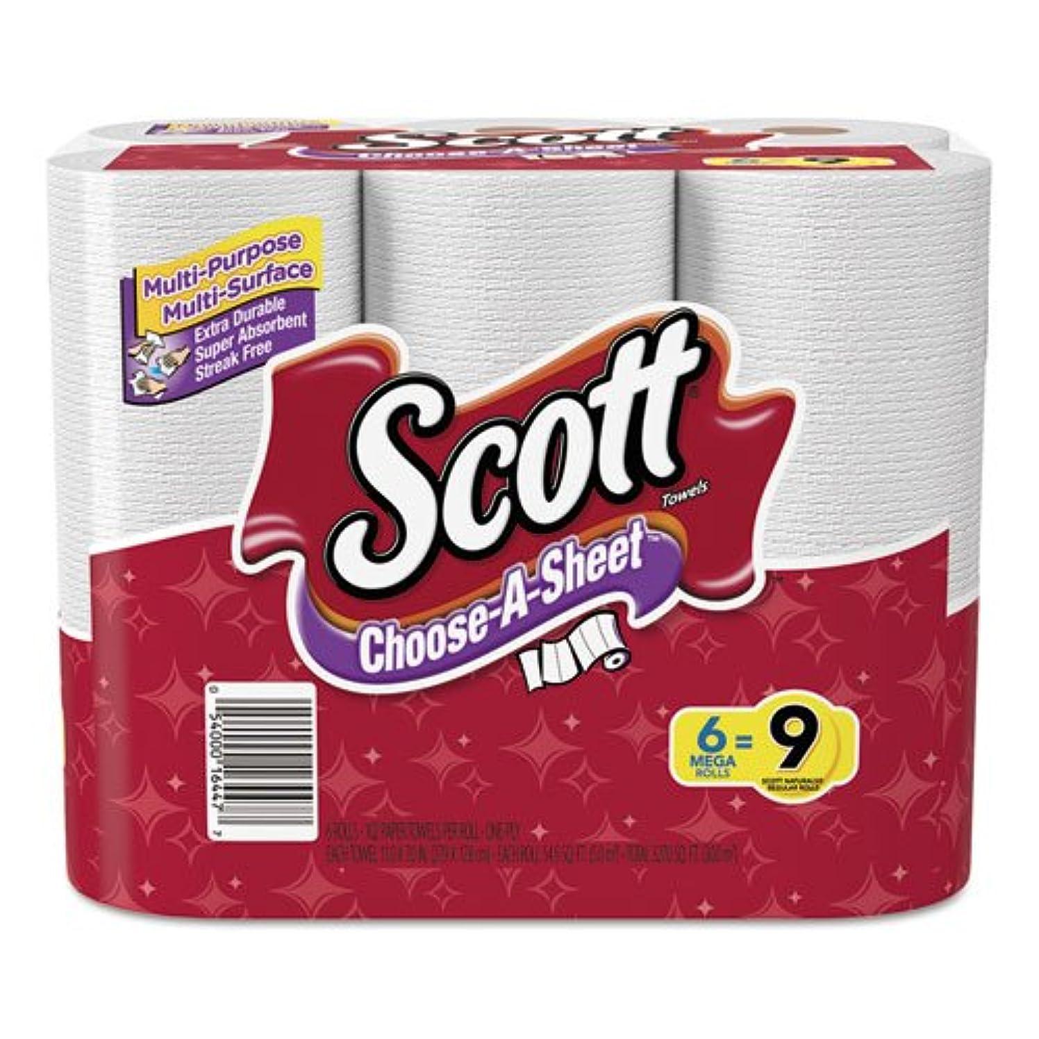 ライフル北へディスカウントスコット?choose-a-sheet Paper Towels?–?1?Ply?–?ホワイト?–?用紙?–?吸収性、高品質、クイック乾燥、ペンPerforated?–?Hand?–?102シート?–?2448?/カートン
