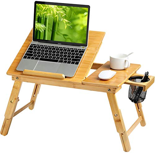 HUANUO Lap Desk- Fits up to 15.6  Inch Laptop Desk, Foldable Bed Tray Breakfast Table with 5 Angles...
