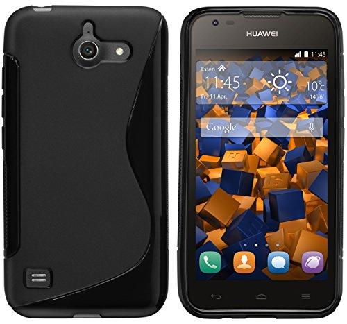 mumbi Hülle kompatibel mit Huawei Ascend Y550 Handy Hülle Handyhülle, schwarz