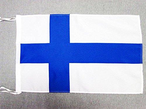 AZ FLAG Flagge FINNLAND 45x30cm mit Kordel - FINNISCHE Fahne 30 x 45 cm - flaggen Top Qualität