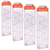 OIMIO Soft Bullet Clips 18-Darts Quick Reload Clips Magazine Clips for Nerf Toy Dart Gun 4pcs (Transparent White)