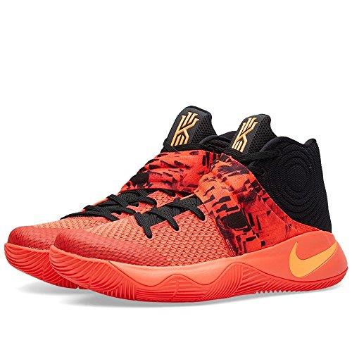Nike Mens Kyrie 2 Bright Crimson/Atomic Orange-Black Fabric Size 11