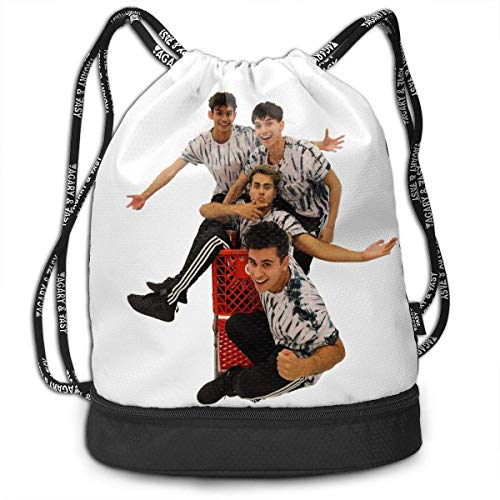 Rucksäcke,Sporttaschen,Turnbeutel,Daypacks, Men Women Gym Drawstring Backpacks Shoulder Bags Sport Sack Backpack for Sport Yoga Trip, Attack Dobre Brothers 3D Print