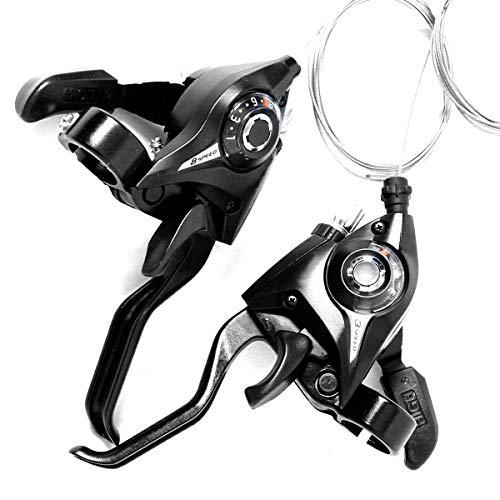 Owlike Manetas de Cambio de Freno para Bicicleta al Aire Libre palancas de Freno y palancas de Cambio L3 x R8 Velocidad Negro