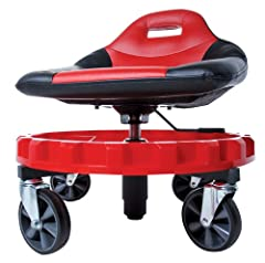 """The large Gear Tray spins so you can easily access your tools and parts; Weight Capacity: 400 pounds Adjustable height to a very low profile made possible because of the drops sleeve Has five Huge 5"""" Casters made of polypropylene plastic for a best i..."""