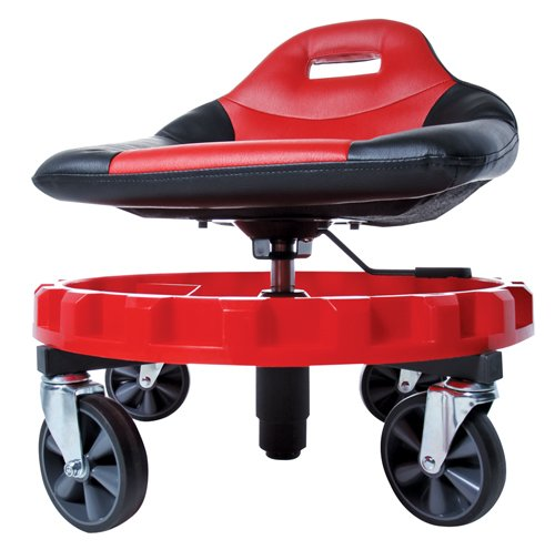 Traxion 2-700 ProGear Mobile Rolling Gear Seat W/Equipment Tray and All-Terrain 5' Casters