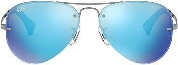 Ray-Ban Highstreet RB3449 59mm Aviator Mirror Sunglasses