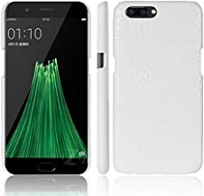 OPPO R11 Plus Case,Luxury Classic Crocodile Skin Pattern [Ultra Slim] PU Leather Anti-scratch PC Protective Hard Case Cover for OPPO R11 Plus ( Color : White )