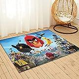 Large Puzzle Alfombra de Angry Birds con estilo nórdico, fresco, minimalista, felpudo para dormitorio, sala de estar, cocina, tapete antideslizante de 91 x 61 cm
