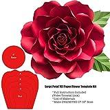 Giant Petal 167 Paper Flower Rose Template Stencil Kit