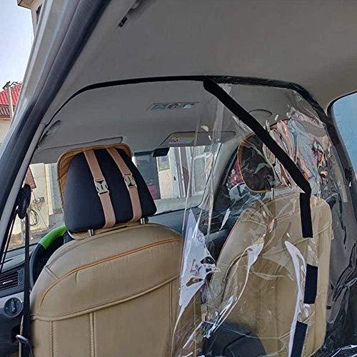 Chnzyr Transparent-Film-Auto Anti-Tröpfchen Proof Isolation Schirm PE Schützen Passagier Film Vorhang Isolat Film Für Ubers Taxi Driver,140 * 200cm