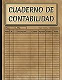 Cuaderno De Contabilidad: Libro De Contabilidad Ingresos y Gastos Para Autónomos y Pequeña Empresa