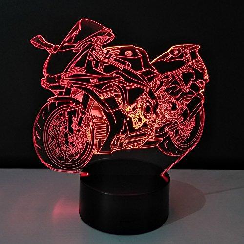 3D Motorrad Optische Illusions Lampe 7 Farben Touch-Schalter Illusion Nachtlicht Für Schlafzimmer Home Decoration Hochzeit Geburtstag Weihnachten Valentine Geschenk