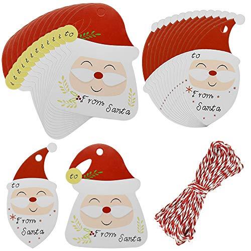 Etiquetas Regalo Papel Kraft Navidad Marca KLYNGTSK
