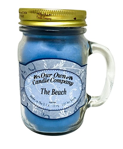 Our Own Candle Company The Beach Scented 13 Ounce Mason Jar Candle