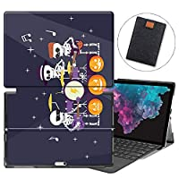 MAITTAO Microsoft Surface Pro 7 case, Folio Smart Stand Strap Case for Surface Pro 7 2019 / Pro LTE 12.3-inch Tablet Sleeve Bag 2 in 1, Compatible with Type Cover Keyboard, Abstract Skeleton 22
