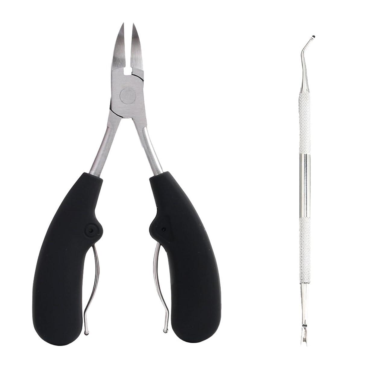 HEALIFTY 厚手または育成爪用2本の足首用クリッパー - ヘビーデューティーステンレススチールグリップトウネイルカッター