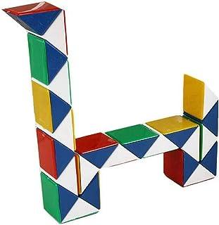 Cubo mágico de 24 cuñas, Regla de Serpiente Multicolor Speed Cube Rompecabezas 3D Puzzle Twist Toy