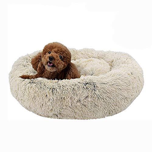 MTHDD Deluxe-haustierbett,Donut Cuddler Hundebett Hundekissen Für Hund Katzen,Selbstwärmende Runde Atmungsaktiv Flauschige Haustierbett Für Kleine,mittelgroße,große Hunde,M1,60CM