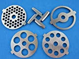 1 X (5) Pc SET New Grinding plate discs and knife for Kitchenaid Mixer FGA Food Chopper and Meat...