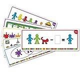 Learning Resources- Tarjetas de Actividades para Las Figuras de la Familia All About, Color (LSP3377-UK) , color, modelo surtido