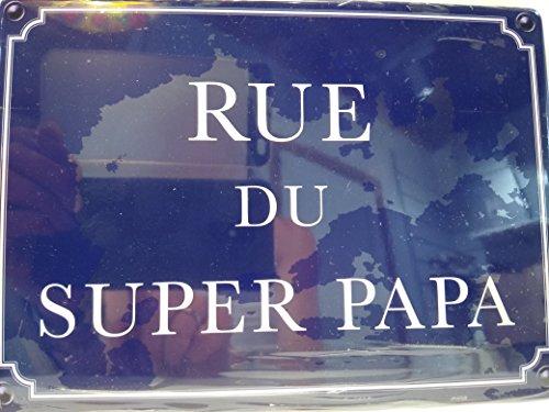 As de coeur Plaque de Porte Rue du Super Papa