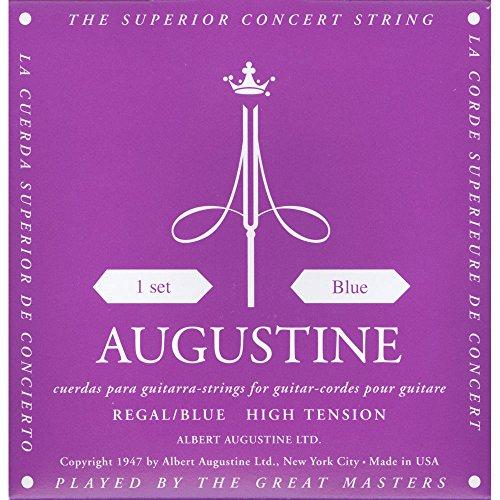 Augustine Klassik Gitarrensaiten Regals Label Satz Blue Extra High Tension/Bassaiten High Tension