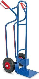 Stapelkarre/Sackkarre aus Stahl, mit pannensicheren Reifen, BxTxH 520x550x1200 mm, Tragkraft 250 kg, Gewicht 11,5 kg