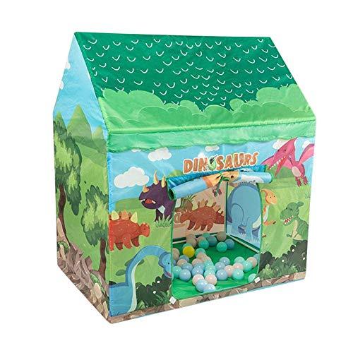 YLLN Carpa de Juegos para niños, Carpa para niños, casa de Juguete Plegable para Interiores y Exteriores, niños o niñas, Carpa de Juego para niños con Dinosaurio Verde
