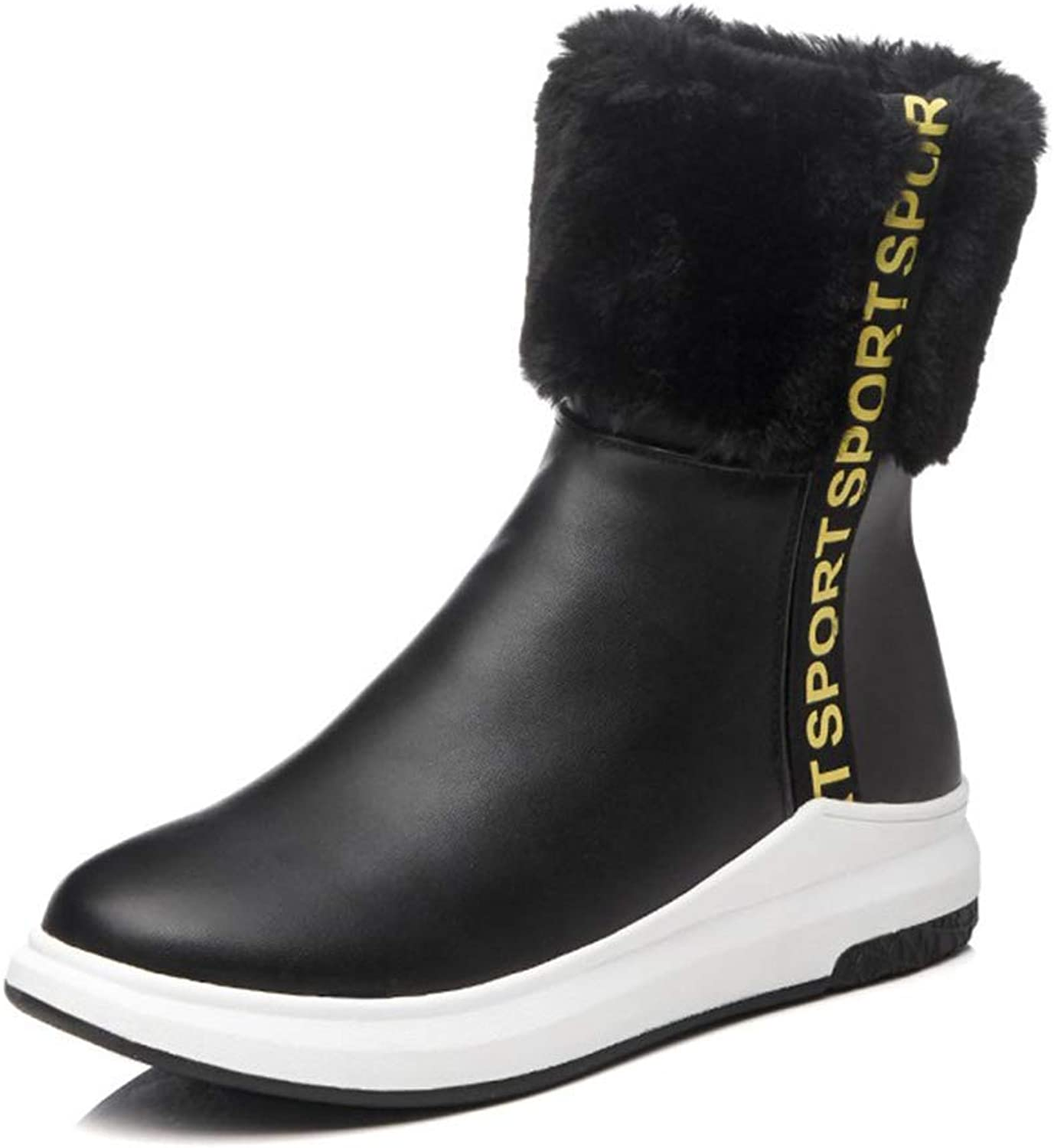 Women's Booties, Wedge Comfortable Keep Warm Fashion Boots Ladies Casual Round Head Fall Winter Ankle Boots (color   A, Size   40)