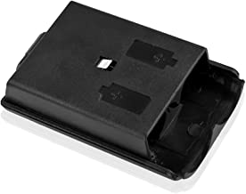 TNP Xbox 360 Battery Pack Cover Holder Shell Shield Case Replacement Kit (Black) for Xbox 360 Wireless Game Controllers [Xbox 360]