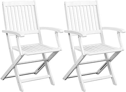 Amazon.es: silla plegables blanca: Hogar y cocina