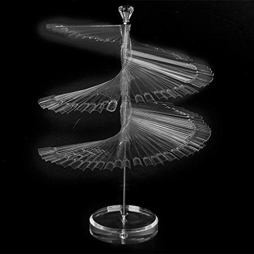 SM SunniMix Pro Large Spiral Fan Shape 120pcs False Nail Art Board Tips Stick Display