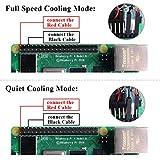 GeeekPi Ice Tower CPU Cooling Fan Ice Tower Fan para Raspberry Pi 4 Modelo B y Raspberry Pi 3B   y Raspberry Pi 3 Modelo B Transparente
