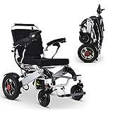 2020 Nueva silla de ruedas de potencia eléctrica ultra liviana plegable, permitidas, servicio de transporte pesado, movilidad motorizada, potencia portátil (19.5'ancho de asiento),Klapprollstuhl